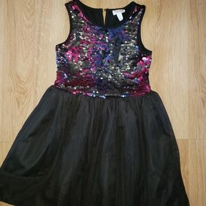 Sz 8 color changing sequins girls dress worn once